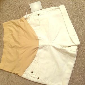 A.glow maternity white shorts